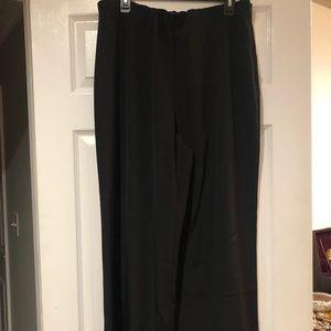 Lafayette 148 New York black silk pants, sz 14